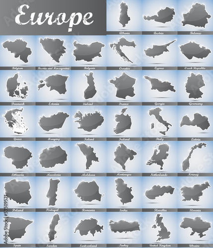 icons in form of all european countries