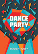 Dance Music Party - Abstract Background for Poster & Flyer
