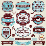 Vintage frame Coffee label set
