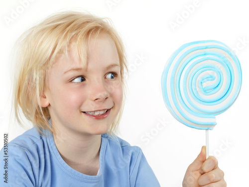 Beautiful girl with lollipop