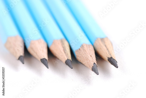 Different blue pencils