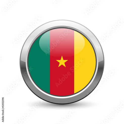 Cameroonian flag icon web button