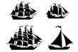 Vector ships set with separate editable elements. - 53512711