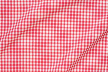 Tablecloth wavy red and white texture background