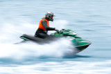 Man drive on the jet ski