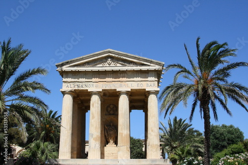 Greek temple in  Valletta, Malta