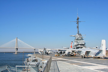 USS Yorktown Aircraft Carrier in Charleston, USA