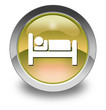 "Yellow Glossy Pictogram ""Hotel / Lodging"""