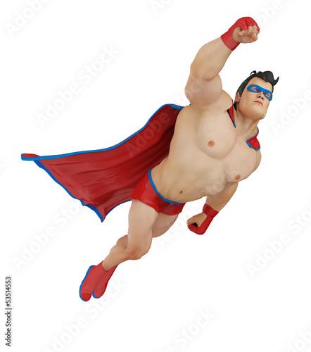 SUPER HERO CARTOON FLYING UP