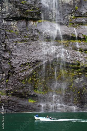 Fototapeten,wasserfall,norwegen,fjord,fjord