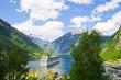 Leinwanddruck Bild - Fiordi norvegesi, crociera