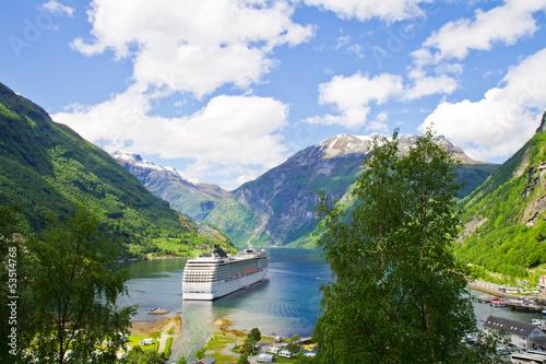 Leinwanddruck Bild Fiordi norvegesi, crociera