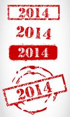New year 2014 stamp set
