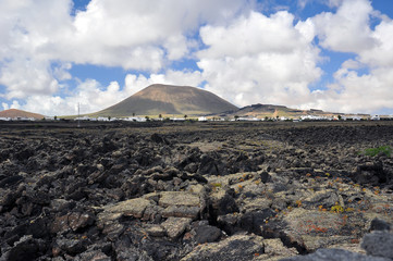 The age-old volcano and its lava