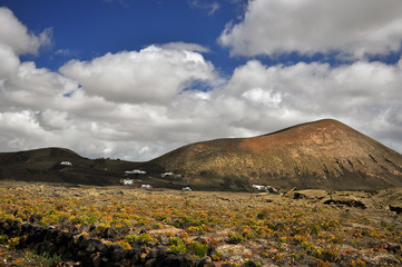 The age-old lava, lava field, mountain