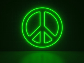 Peace Symbol - Series Neon Signs