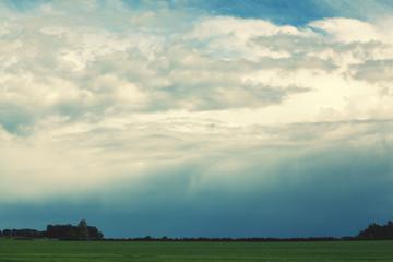 rain cloud on horizon