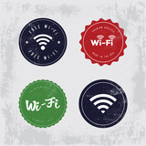 Vector Vintage WiFi Badges