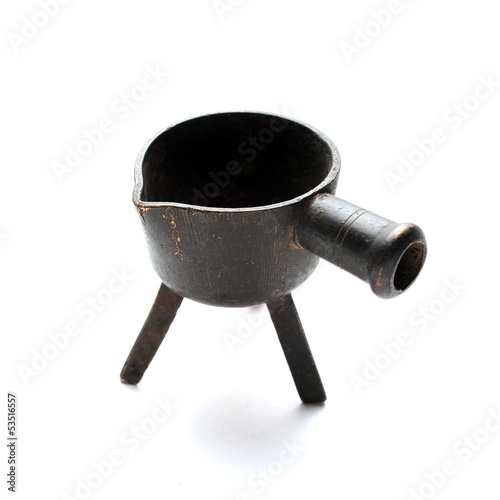 Antique melting pot for metal