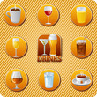 drinks menu icon set