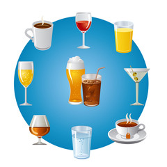 drinks icon set