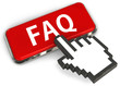 Cursor pressing FAQ button