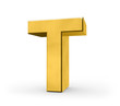 Letter in gold - T