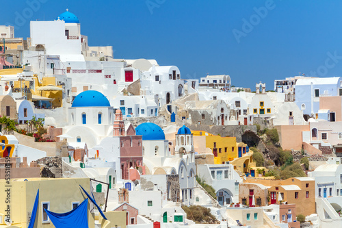 Foto op Canvas Architecture of Oia town on Santorini island, Greece