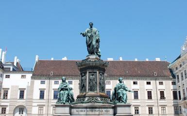 Kaiser Franz monument in Vienna