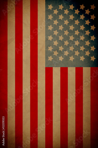 Vintage Poster Design Fourth Of July