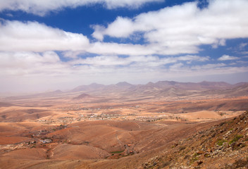 Central Fuerteventura, Canary Islands, view from Mirador de Guis
