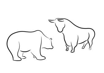 Bär und Stier