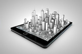 Tablet and city