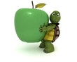 tortoise with an apple