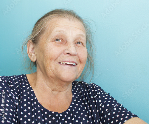 Portrait of the elderly woman.