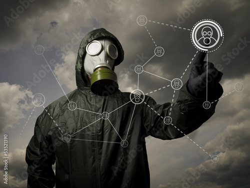 Gas mask. Social network