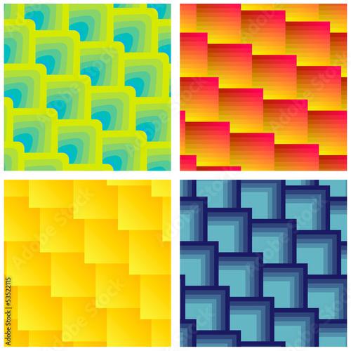 Set Of Seamless Square Patterns