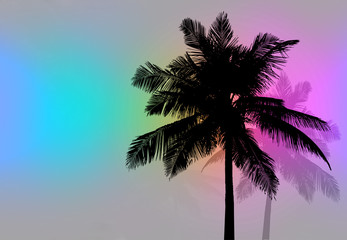 Palm Trees Sunset Retro