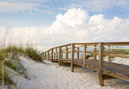 Fototapeta Boardwalk in the Beach Sand Dunes