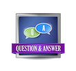 Question and answer button illustration