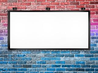 Billboard on Brick Wall