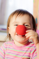 Kid with red nose