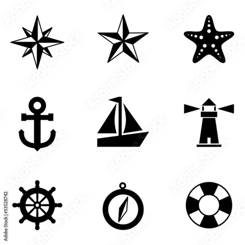 Nautical Icons - 53528742