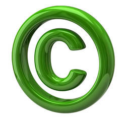 Green copyright symbol