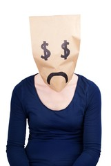 a desperate dollar paper bag