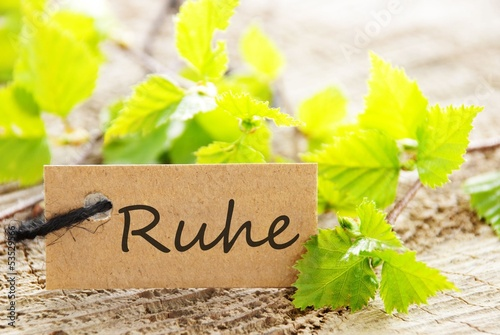 label with Ruhe