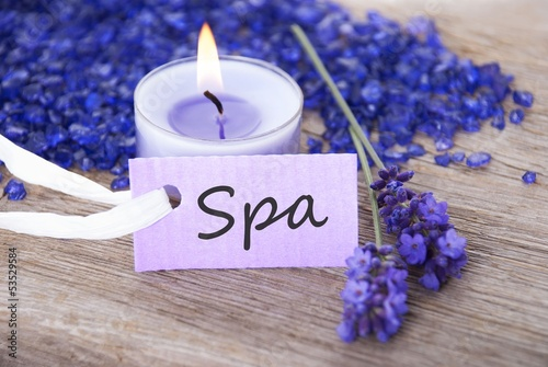 a spa background with spa label