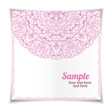 Pink lace pattern, postcard