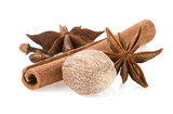 cinnamon, anise star and nutmeg