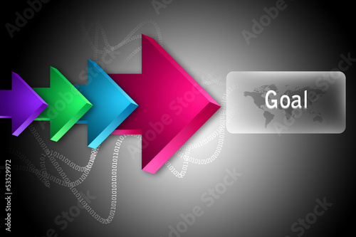 The word Goal and arrows